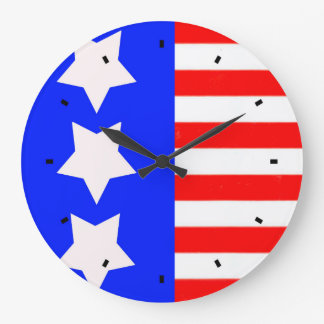 Stars and Stripes Wall Clock by Julie Everhart