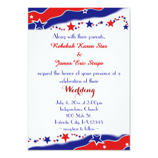 Stars and Stripes Wedding Card