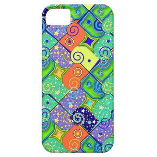 Stars and Swirls Geometric Pattern iPhone 5 Cover