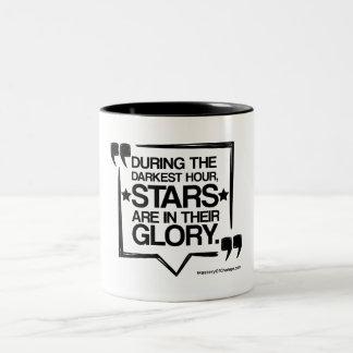 Stars are in their glory Two-Tone coffee mug