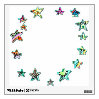 Stars Around Colorful Wall Decal