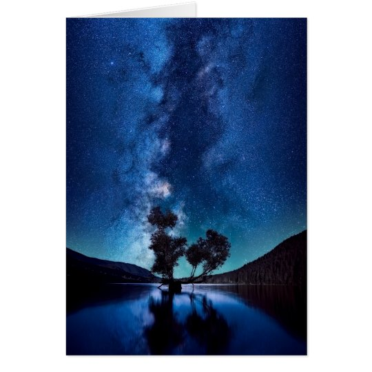 Stars at Night Happy Birthday Greeting Card
