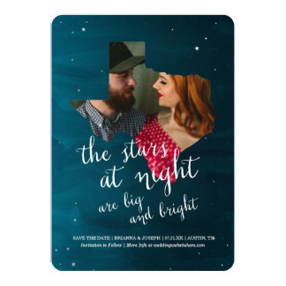 "Stars at Night Save the Date 5"" X 7"" Invitation Card"