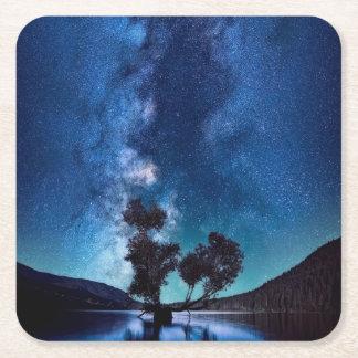 Stars at Night Square Paper Coaster