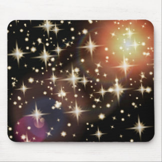 Stars background light flare graphics mouse pad