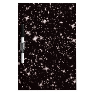 stars black night dry erase board