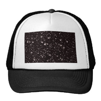 stars black night trucker hat