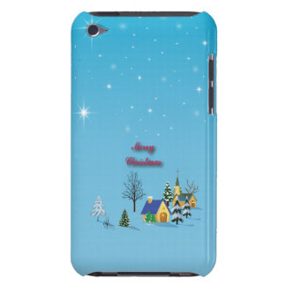 Stars Blue Sky Christian Church Village Calm Barely There iPod Case