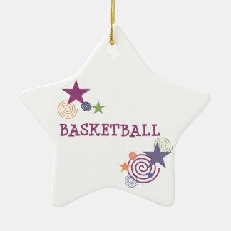 Stars du basket-ball et remous ornement étoile en céramique