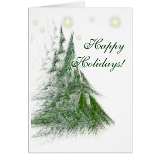 STARS & FIRS Christmas card