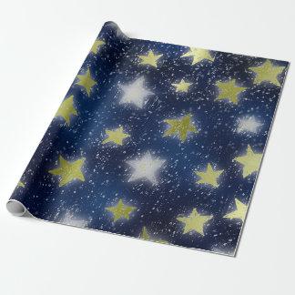 Stars Galaxy Sky Navy Blue Night Green Mint Metall