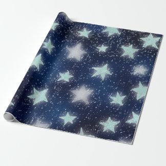 Stars Galaxy Sky Navy Blue Night Mint Tiffany Aqua