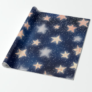 Stars Galaxy Sky Navy Blue Night Rose Gold Blush