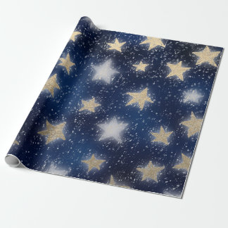 Stars Galaxy Sky Navy Blue Night Sepia Gold Blush