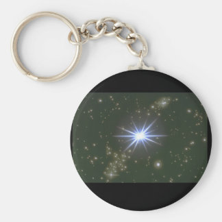 Stars. (galaxy;space;stars;color_Space Scenes Basic Round Button Keychain