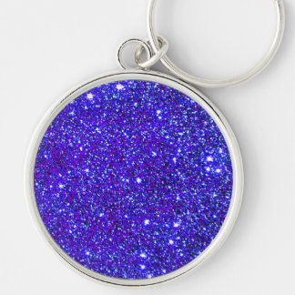 Stars Glitter Sparkle Universe Infinite Sparkly Silver-Colored Round Keychain
