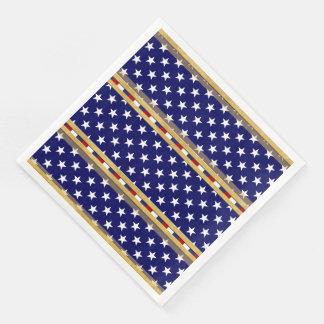 Stars Gold Blue Paper Napkin