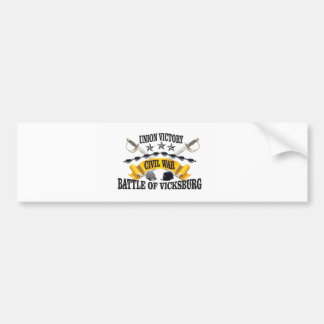 stars hats vickburg bumper sticker