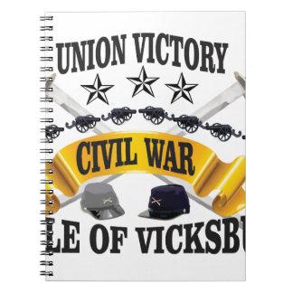 stars hats vickburg note book