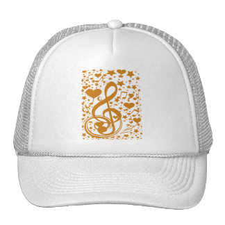 Stars,Hears and The Music Notes,Gold_ Trucker Hat