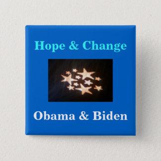 stars, Hope & Change, Obama & Biden 2 Inch Square Button