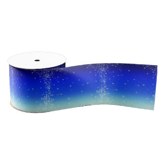stars in blue grosgrain ribbon