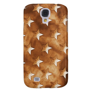 Stars in Brown Samsung Galaxy S4 Cases