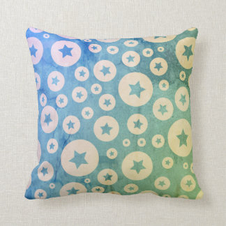 Stars in Bubbles Throw Pillow