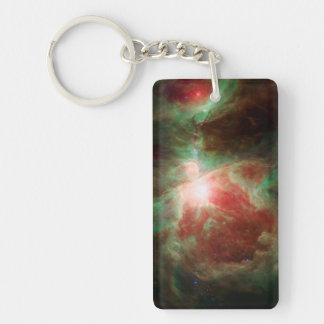Stars in Orion Nebula Space Double-Sided Rectangular Acrylic Keychain