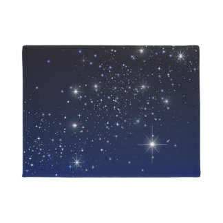 STARS IN SPACE DOORMAT