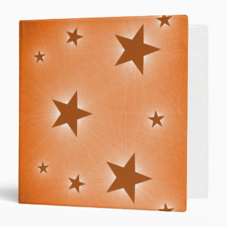 Stars in the Night Sky Binder, Orange (1.5 inch) Binder