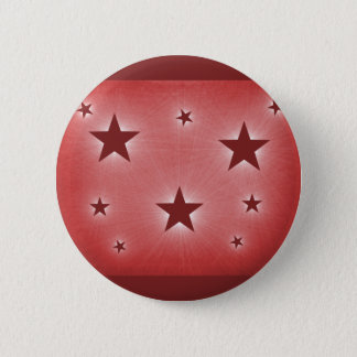 Stars in the Night Sky Button, Dark Red 2 Inch Round Button