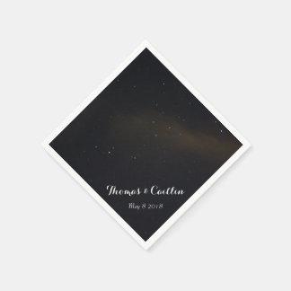 Stars in the Night Sky Paper Napkin