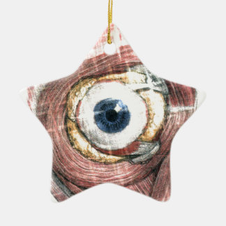 Stars in Your Eyes Ceramic Ornament