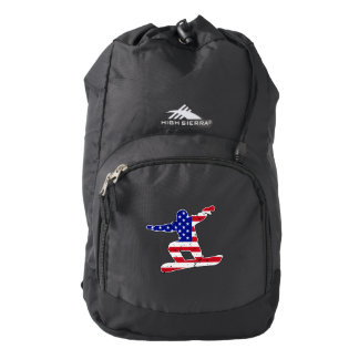 Stars 'n' Stripes SNOWBOARDER (wht) Backpack