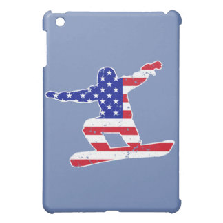 Stars 'n' Stripes SNOWBOARDER (wht) Cover For The iPad Mini
