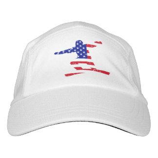 Stars 'n' Stripes SNOWBOARDER (wht) Headsweats Hat