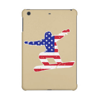 Stars 'n' Stripes SNOWBOARDER (wht) iPad Mini Covers