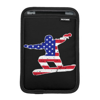 Stars 'n' Stripes SNOWBOARDER (wht) iPad Mini Sleeve