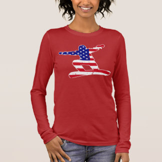 Stars 'n' Stripes SNOWBOARDER (wht) Long Sleeve T-Shirt