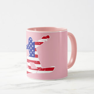 Stars 'n' Stripes SNOWBOARDER (wht) Mug