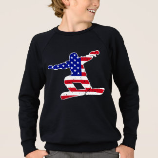Stars 'n' Stripes SNOWBOARDER (wht) Sweatshirt