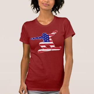 Stars 'n' Stripes SNOWBOARDER (wht) T-Shirt