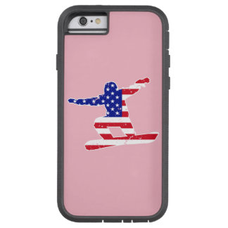 Stars 'n' Stripes SNOWBOARDER (wht) Tough Xtreme iPhone 6 Case
