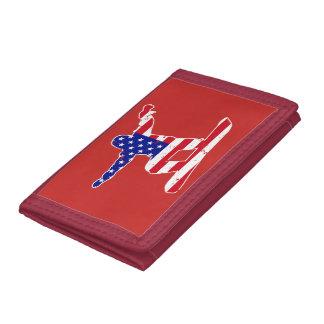 Stars 'n' Stripes SNOWBOARDER (wht) Tri-fold Wallet