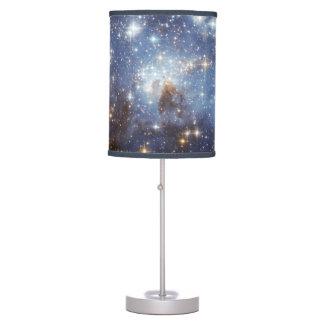 Stars Nebula Galaxy Universe Space Night Sky Blue Table Lamp
