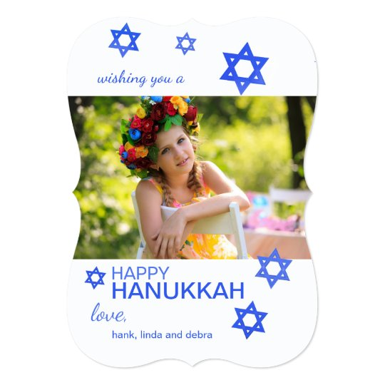 Stars of David Photo Holiday Card