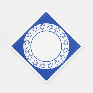 Stars of David Wreath Disposable Napkins