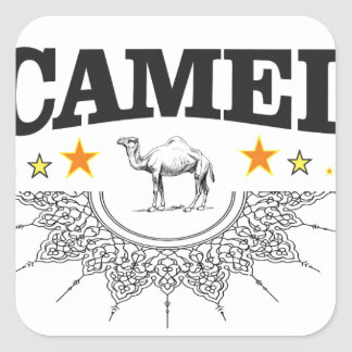 stars of the camel square sticker