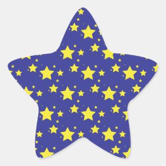 Stars on Blue Background Sticker